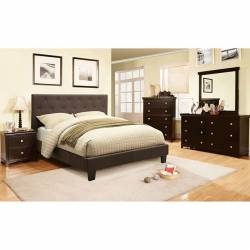 LEEROY Gray 4 Pc. Set (QUEEN BED +  1NS + DRESSER + MIRROR)