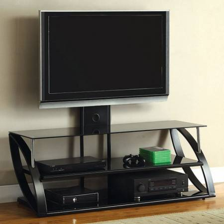 "ADELLA 54"" GLASS TOP TV CONSOLE"