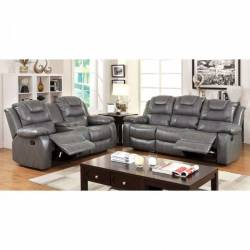 GRANDOLF 2 Pc. Set SOFA + LOVE SEAT IN GRAY