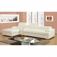 FLORIA 2 Pc. Set (Storage Con) SECTIONAL + CONSOLE TABLE IN WHITE