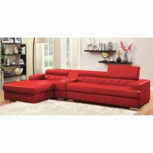 FLORIA 2 Pc. Set (Storage Con) SECTIONAL + CONSOLE TABLE RED