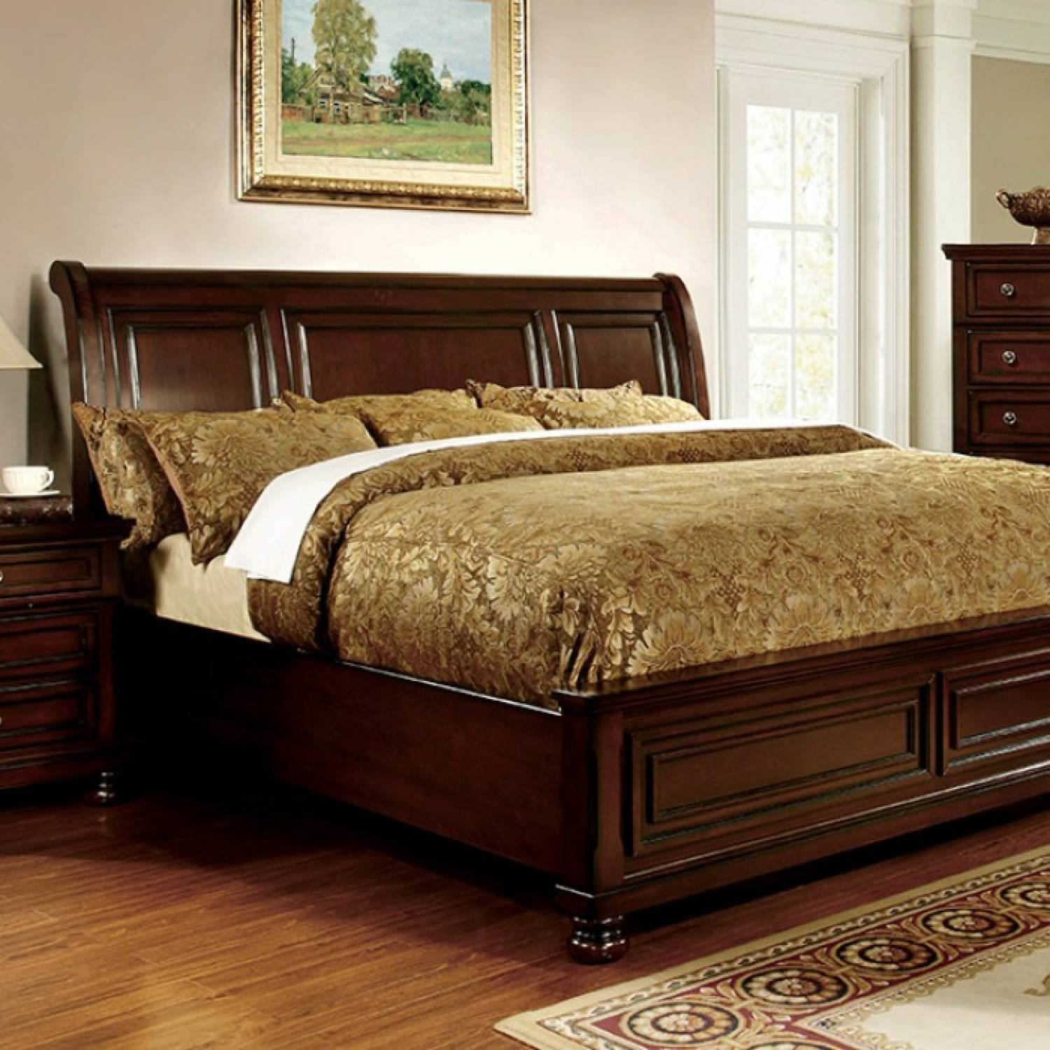 Northville Cal King Bed Dark Cherry Finish