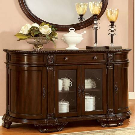 Bellagio Server Brown Cherry Finish