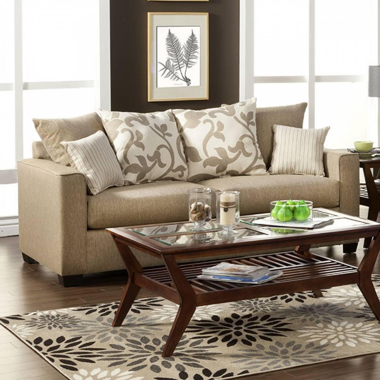 Colebrook sofa in beige 2 pc set sofa love seat for Furniture of america address