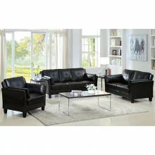 Pierre Sofa in  Black 2 Pc Set (Sofa +  Love Seat)