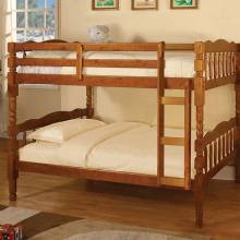 CATALINA Twin/Twin Bunk Bed in Oak Finish
