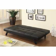 Sofa Beds and Futons Contemporary Sofa Bed in Black Leatherette