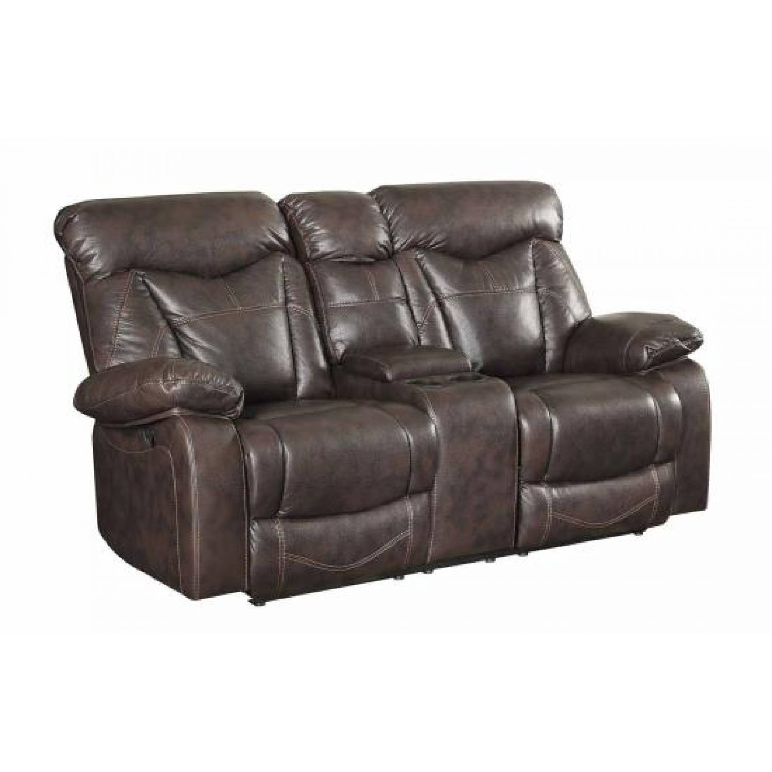 Zimmerman Power Reclining Love Seat With Cup Holders: loveseat with cup holders