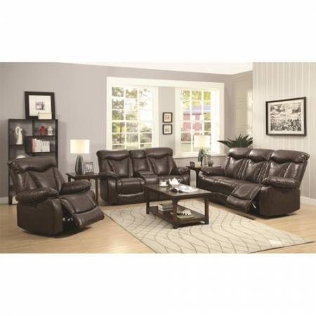 Zimmerman Reclining Sofa + LOVE SEAT with Pillow Arms 2PC