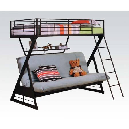 37136 TWIN/FULL BUNK BED W/BOOKSHELF