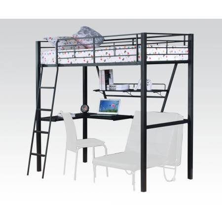 37275 TWIN LOFT BED W/DESK