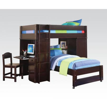 37495 LOFT BED & TWIN BED