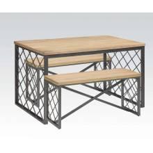 3PC PK DINING TABLE/STOOL SET