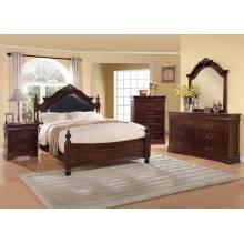 GWYNETH 4 Pc. Set (QUEEN BED +  1NS + DRESSER + MIRROR)