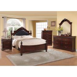 GWYNETH 4 Pc. Set (QUEEN BED +  1NS + DRESSER + MIRROR)
