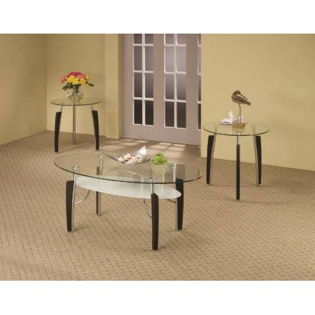 3 Piece Occasional Table Sets 3-Piece Contemporary Round Coffee & End Table Set