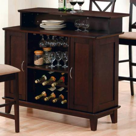 Mix & Match Contemporary Bar with Wine and Stemware Storage