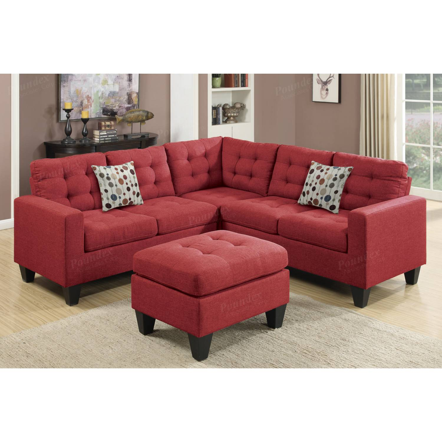 4 Pcs Modular Sectional