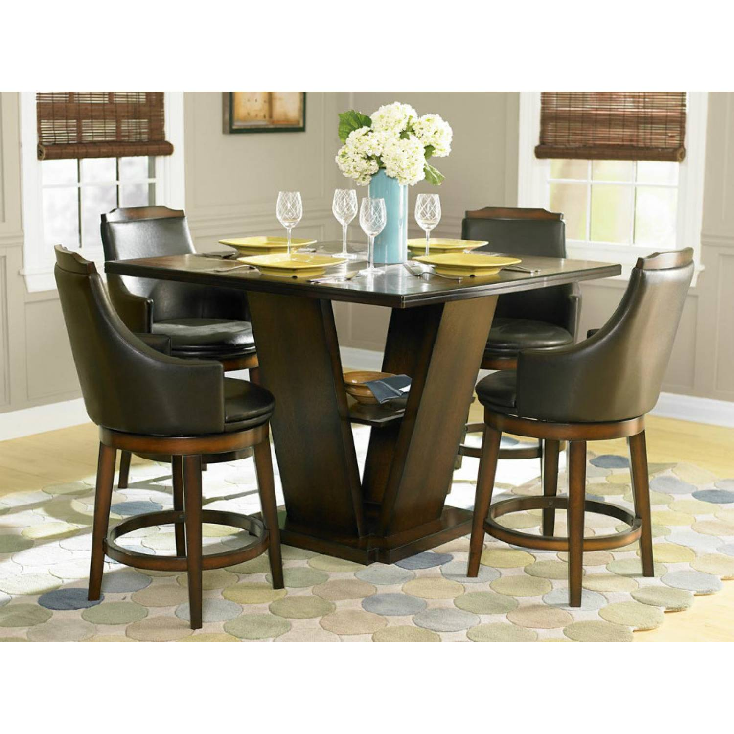 Counter Dining Room Sets: Bayshore Counter Height Dining Set 5pc Set (TABLE+4 SIDE