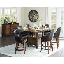 Bayshore Counter Height Dining Set - Medium Walnut 5pc set