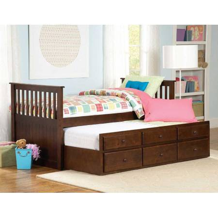 Zachary Twin-Twin Trundle Bed 571PE-1