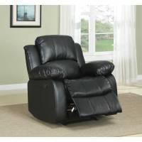Cranley Reclining Chair - Black Bonded Leather 9700BLK-1 Homelegance