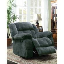 Laurelton Glider Reclining Chair - Charcoal - Textured Plush Microfiber  9636CC-1 Homelegance