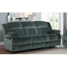 Laurelton Double Reclining Sofa - Charcoal - Textured Plush Microfiber  9636CC-3 Homelegance