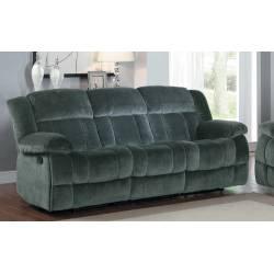 Laurelton Double Reclining Sofa - Charcoal - Textured Plush Microfiber  9636CC-3 Homelegance