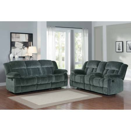 2pc Laurelton Reclining Sofa Set - Charcoal - Textured Plush Microfiber  9636CC Homelegance