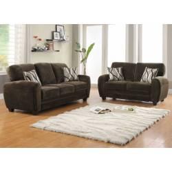 Rubin Sofa Set - Chocolate Textured Microfiber 9734CH Homelegance