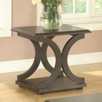 703140 C-Shaped End Table