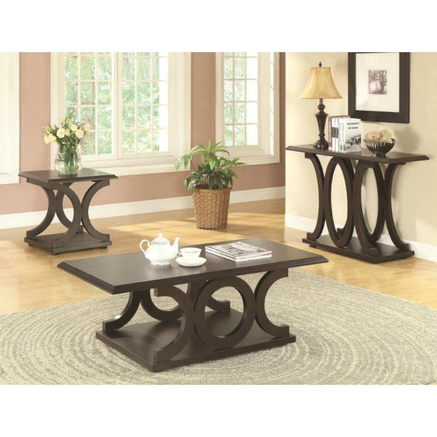 703140 C Shaped Sofa Table