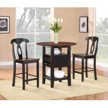 Atwood 3-Piece Counter Height Dining Set 2505BK-36