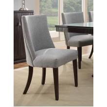 Chicago  Side Chair - Espresso  - Blue Grey Fabric 2588S