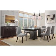 Chicago  Dining Set - Espresso 5pc set (TABLE + 4 SIDE CHAIRS)