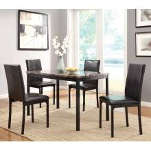 Tempe Dining Set - Black 5pc set (TABLE + 4 SIDE CHAIRS