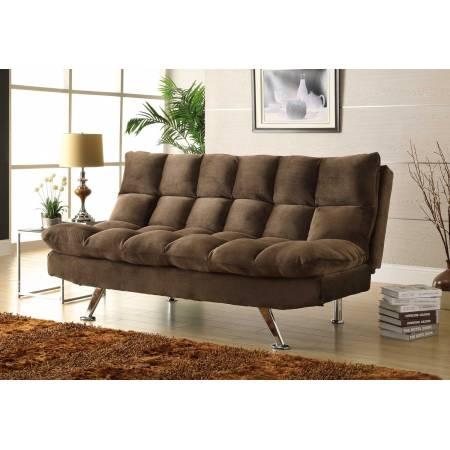 Jazz Click-Clack Sofa Bed - Chocolate - Textured Plush Microfiber 4809CH