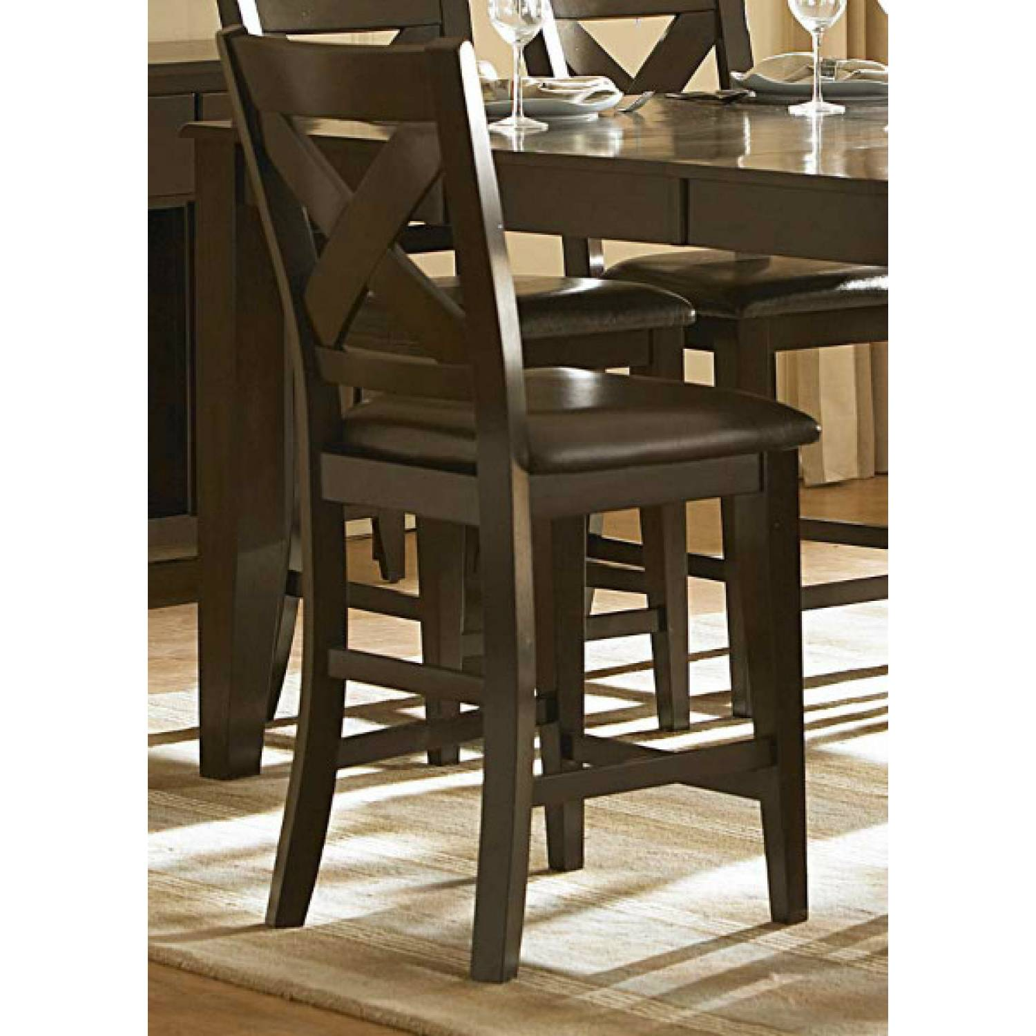 Crown Point Counter Height Dining Set 5pc Set Table 4