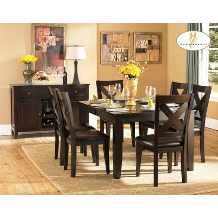Crown Point Dining Set 5pc set (TABLE+4 SIDE CHAIRS)