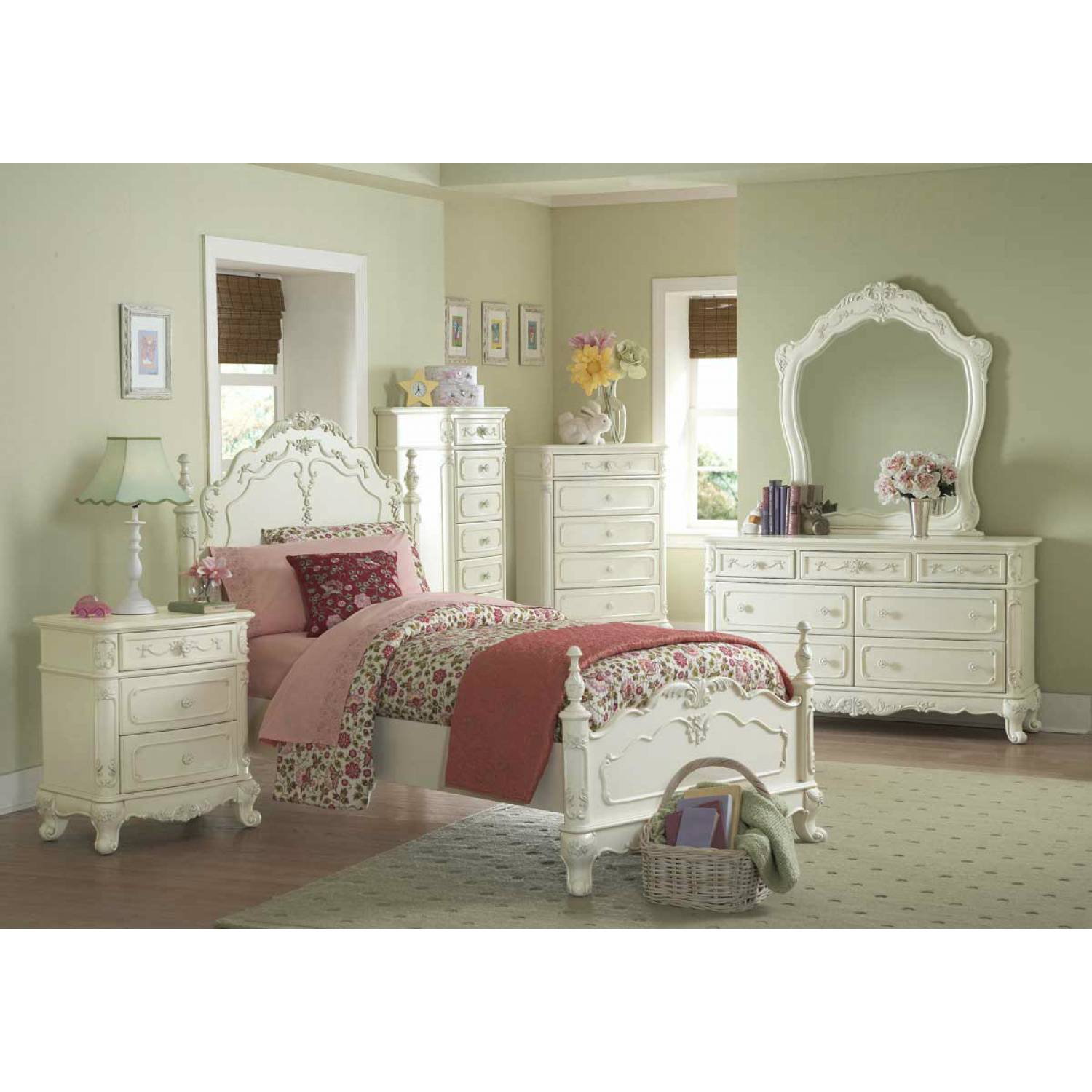 Cinderella Bedroom Collection 5pc Set(TB+NS+DR+MR+CH
