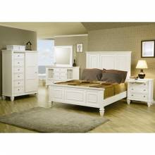 Sandy Beach Classic King High Headboard Bed