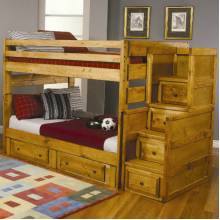 Wrangle Hill Full Over Full Bunk Bed with Under-Bed Storage