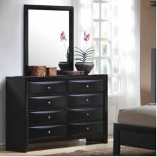 Briana 8 Drawer Dresser & Vertical Mirror