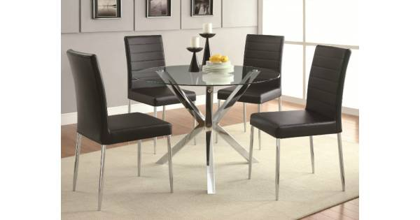 Vance Contemporary 5 Piece Glass Top Table and Chair Set : 35 600x315 from furnituredirects2u.com size 600 x 315 jpeg 16kB