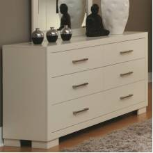 Jessica 6 Drawer Dresser White