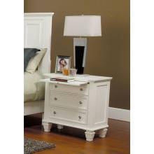 201302 Sandy Beach Night Stand with 3 Drawers