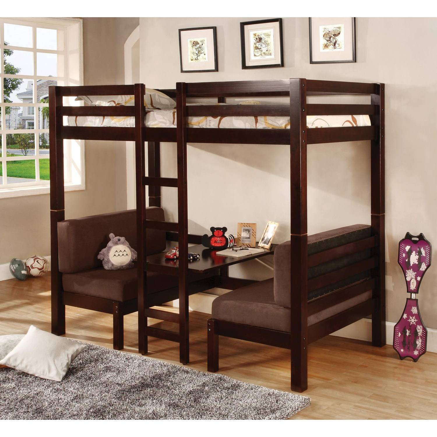 Bunks Twin Over Twin Convertible Loft Bed