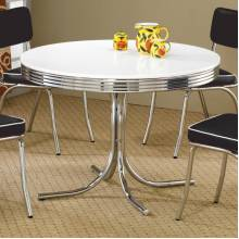 Cleveland Round Chrome Plated Dining Table