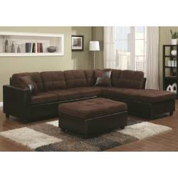 1 Mallory Reversible Sectional with Casual and Contemporary Style